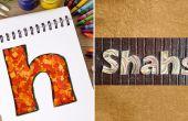 Cómo hacer placas personalizadas con confeti | DIY Quilled carta en papel | Decoración para el hogar