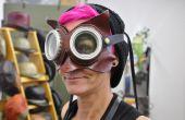 3-en-1 cuero Dr. Whoo máscara de búho con gafas