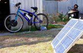 Bicicleta eléctrica de batería con Panel Solar de carga