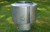 Fogón de jardín reutilizar el tambor de una lavadora