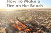 Cómo hacer un fuego en la playa