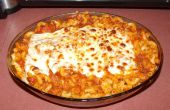 Pastel de pasta y pizza o pastizza
