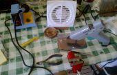 Extractor de humos de un extractor de baño.