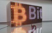 Desplácese a un mensaje en una matriz de LED