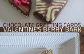 Chocolate tarjetas de felicitación: Corteza de baya Valentín