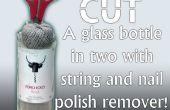 Cómo cortar una botella con el removedor de cadena y esmalte de uñas!