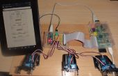 Frambuesa servidor Web enviar datos GET a Arduino Nano 6 servos de conducción