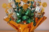 Artes de St Patrick Day: Dinero Candy Bouquet