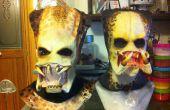 Máscara de depredador marca el molde de yeso parte 2-2 para una mascara