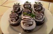 Clásico fresa Chocolate Cupcakes