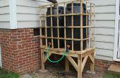 Reciclado de plataforma lluvia barril soporte
