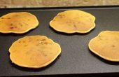 Gluten gratis batata Chocolate Chip Pancakes