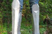 Cómo hacer chicharrones (armadura de la pierna) de cartón