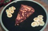 Pizza de Cheesecake de mantequilla de maní con Topping de plátano