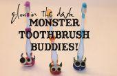 Resplandor en el oscuro monstruo cepillo de dientes titular amigos!