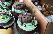 Día de San Patricio de menta Chocolate Cupcakes