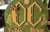 Signo de madera Pub