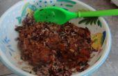 Almuerzo saludable: Salvaje y arroz con salsa de Ragu