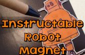 Pegado con E6000 - Robot Instructable imán