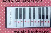 Etiquetado un teclado de música con una silueta de corte de vinilo