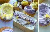 Cupcakes de lavanda limón