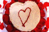 Pastel de terciopelo rojo San Valentín corazón