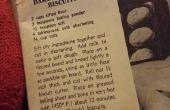 Pastel de pollo galletas Vintage