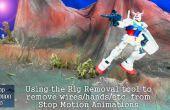 Utilizando la herramienta de eliminación de la plataforma en Stop Motion Pro 7