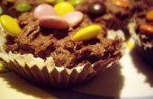 Grandes deliciosos pasteles de taza Chocolate
