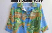 Super botón hasta camisa de Mario