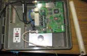 Al aire libre Router Wrt54G con adaptador de red powerline para suministrar internet a cámaras IP Wifi