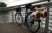 Sistema de sonido de parlantes portátiles bicicleta