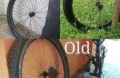 Pintar llantas de bicicleta antigua