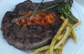 Cómo carne de barbacoa: Prime Steak de costilla con Peperonata o salsa de champiñones