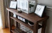 Construir una mesa de comedor consola (lado o porción tabla)