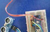 Arduino y sensor de ultrasonidos de control servo y distancia metro