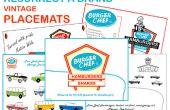 Resucitar una marca - mantel individual de Vintage de Burger Chef - parte 5 -