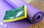 Limpie su estera de Yoga
