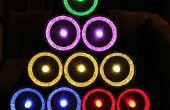 Pie el árbol de Navidad en lata a GE color efectos luces LED