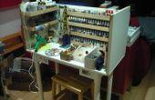 Reutilización de materiales, reciclaje de montar un banco de trabajo barato