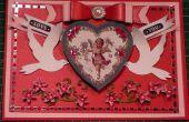 Cómo hacer una tarjeta de San Valentín victoriano querubín Vintage