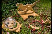 Jurásico tirar madera juguete