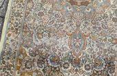 Alfombra persa decolorado y redyed