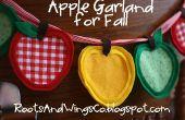 Cómo hacer una guirnalda de Apple para otoño o a la escuela