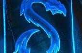 Luz de noche glowy Blue Dragon