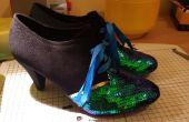 Calzado-zapatos de lentejuelas