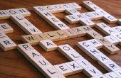 La abuela del arte de la pared de Scrabble