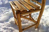 Construir usted mismo una rústica silla de madera