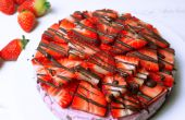 Cheesecake de fresa cruda saludable