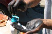 Limpiar las manos grasosas con loción - Gojo del pobre